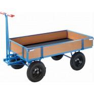 Handpritschenwagen, bis 1.000 kg, mit 4 Bordwänden, 1210x760mm, Luftreifen