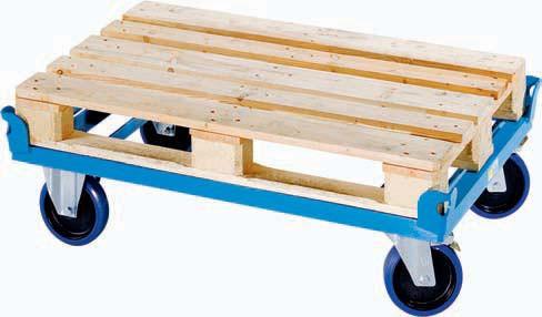 Fahrgestell für Paletten u. Behälter, Ladehöhe: 280 mm, bis 0,5t