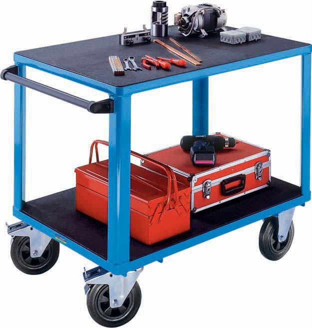 Montagewagen bis 500 kg, 2 Ladeflächen / Kunststoff