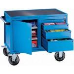 Montagewagen bis 500kg,  4 Schubladen + 1 Schrank