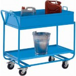 Tischwagen, 2 Etagen, mit abnehmbarer, öldichter Wanne