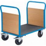 PLATTFORMWAGEN Mit Holzwänden 2 Stirnwände Tragfähigkeit 500 kg Bereifung:  Vollgummi